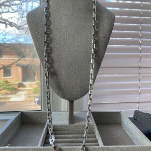 """Michael Kors 17"""" Silver Link Chain Necklace $110"""